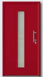 дверь TPS 020 цвета RAL 3003 рубиново-красного цвета.