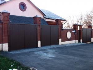 Распашные ворота с автоматикой в Домодедовском районе