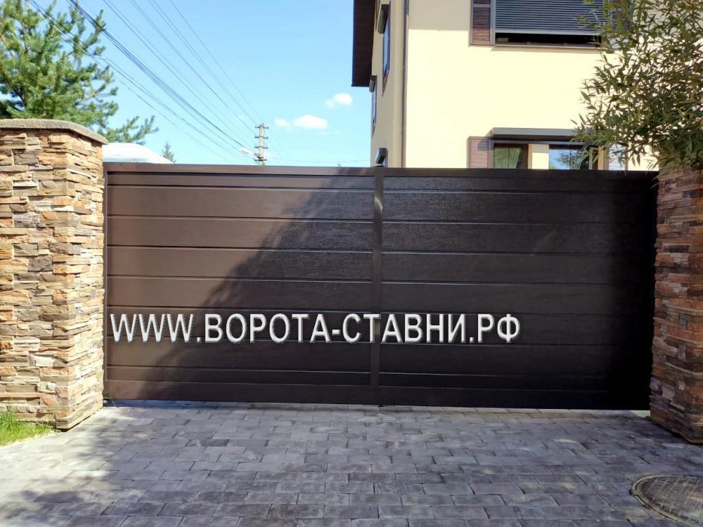 откатные ворота в Видном