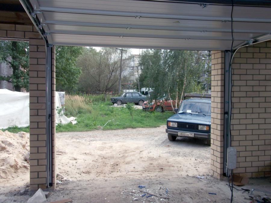 ворота в открытом состоянии